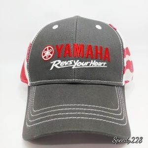 Yamaha Revs Your Heart Mesh Trucker Snapback Hat